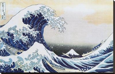 La gran ola de Kanagawa , c.1829 Reproducción de lámina sobre lienzo por Katsushika Hokusai