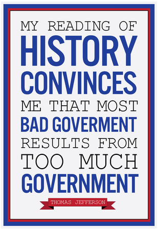 Too Much Government Thomas Jefferson Print