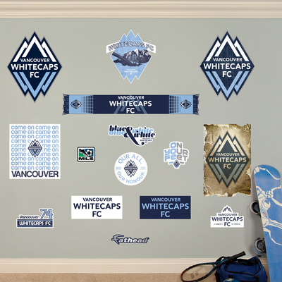 MLS Vancouver Whitecaps FC Vancouver Whitecaps FC Logo Collection Wall Decal Wall Decal