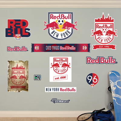 MLS Red Bull New York New York Red Bulls Logo Collection Wall Decal Wall Decal