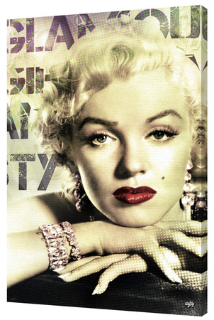 Marilyn Monroe - Glamour Stretched Canvas Print