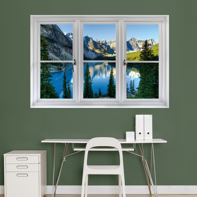Banff Mountains and Lake Window Decal Sticker Window Decal