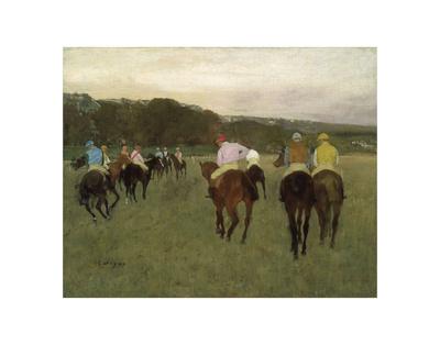 Racehorses at Longchamp, 1871 Prints by Edgar Degas