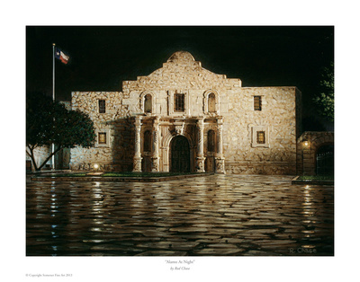 Alamo at Night Posters by Rod Chase