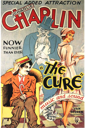 The Cure Movie Charlie Chaplin Plastic Sign Plastic Sign