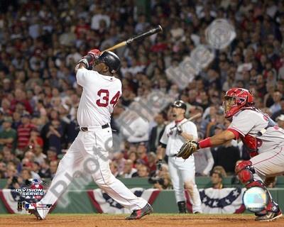 David Ortiz hitting game 3 and 2004 ALDS winning HR against Anaheim Angels Photo