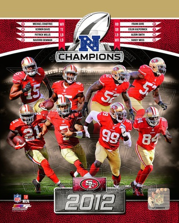 San Francisco 49ers 2012 NFC Champions Composite Photo