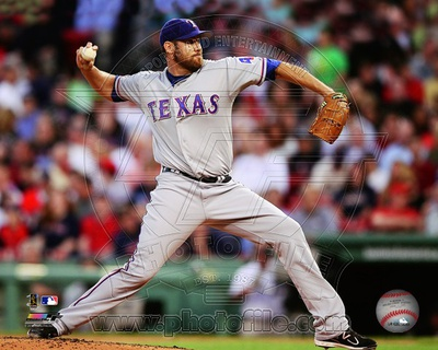 Colby Lewis 2012 Action Photo