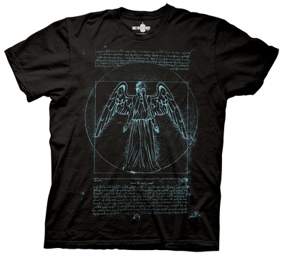 Doctor Who - Vitruvian Angel T-shirts