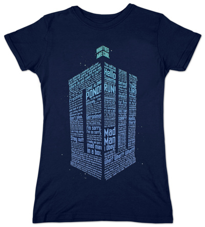 Juniors: Doctor Who - Logo Of Words Shirts