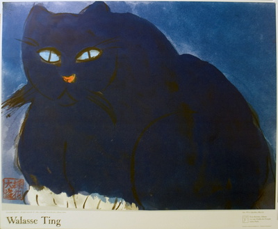 Blue Cat Collectable Print by Walasse Ting