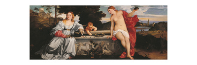 Sacred and Profane Love Giclee Print by  Titian (Tiziano Vecelli)