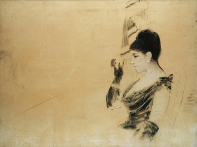Study for 'In the Box at the Opera' (Studio Per 'In Palco All'Opera') Giclee Print by Giuseppe De Nittis