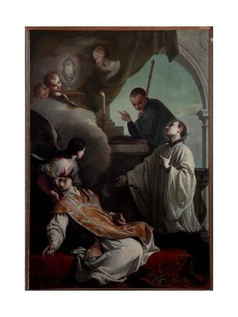 The Saints Andrew Avellino, Louis Gonzaga and Stanislaus Kostka Giclee Print by Giambettino Cignaroli