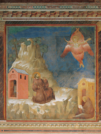 St Francis Receiving the Stigmata Giclee Print by  Giotto di Bondone
