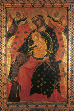 Madonna and Child with Two Votaries Giclee Print by Paolo Veneziano