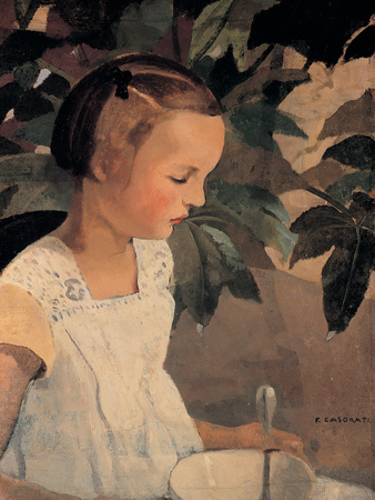 Child with a Bowl Giclee Print by Casorati Felice