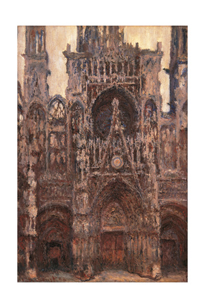 Rouen Cathedral, Evening Effect, Harmony in Brown Posters by Claude Monet