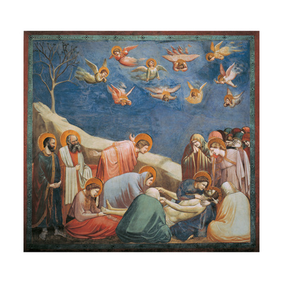 Stories of the Passion, Mourning over Dead Christ Print by  Giotto di Bondone