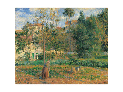 Vegetable Garden at the Hermitage, Pontoise Prints by Camille Pissarro