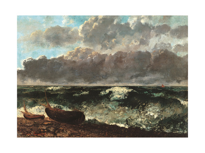 Stormy Sea, (The Wave) Print by Gustave Courbet