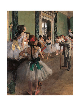Dance Class Prints by Edgar Degas