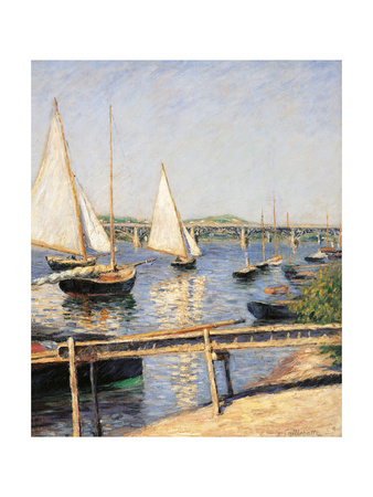 Sailing Boats at Argenteuil Prints by Gustave Caillebotte