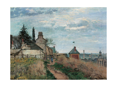 Courthouse at Pontoise Prints by Camille Pissarro
