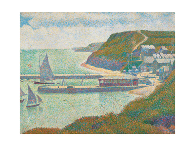 Port and Dock Calvados Posters by Georges Seurat
