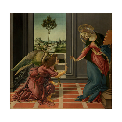 Annunciation Posters by Sandro Botticelli