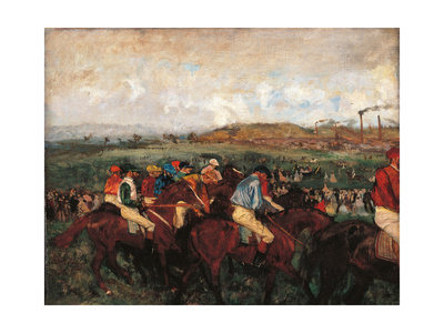 Gentlemen's Race Before the Start Poster by Edgar Degas