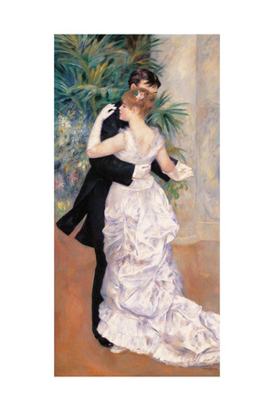 City Dance Poster by Pierre-Auguste Renoir
