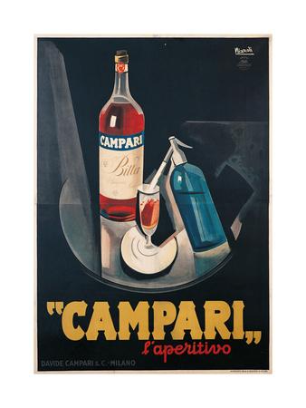 Poster Advertising Campari l'aperitivo Posters af Marcello Nizzoli