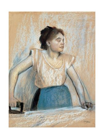 Woman Ironing Prints by Edgar Degas