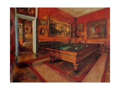 Billiard Room Prints by Edgar Degas