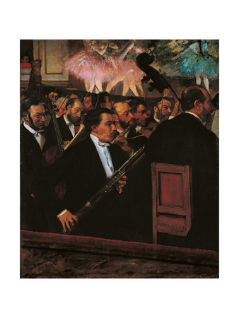 Orchestra at the Opera House Prints by Edgar Degas