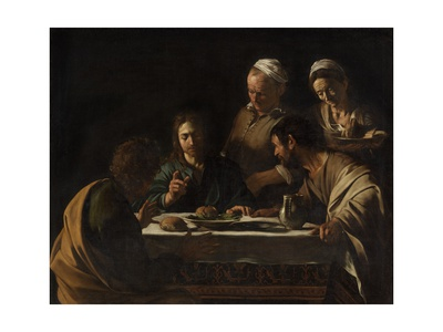 Supper at Emmaus Poster by  Caravaggio