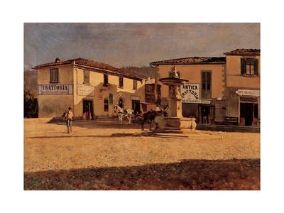 Square in Settignano Posters by Telemaco Signorini