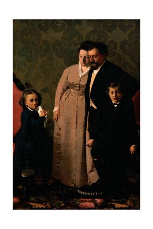 Guidini family Prints by Giacomo Favretto