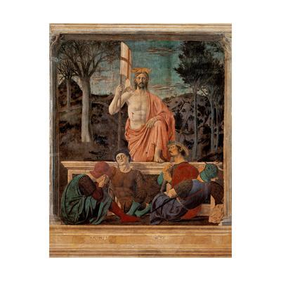 Resurrection of Christ,  by Piero della Francesca, 1450-63. Palazzo del Comune, Arezzo, Italy Posters by  Piero della Francesca