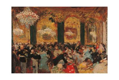 Dinner at the Ball Art by Edgar Degas
