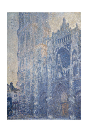 Rouen Cathedral (Morning Effect) Posters by Claude Monet
