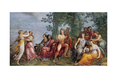 Parnassus (Apollo and the Muses) Prints by Andrea Appiani
