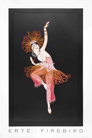 Firebird Collectable Print by  Erté