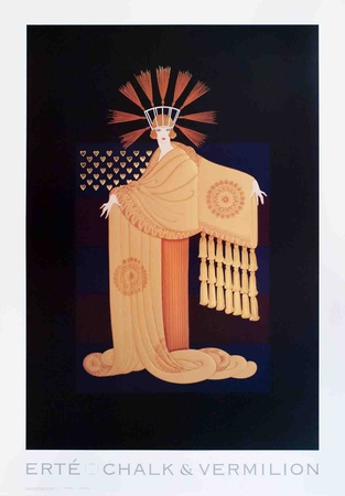 Tassel Gown Collectable Print by  Erté