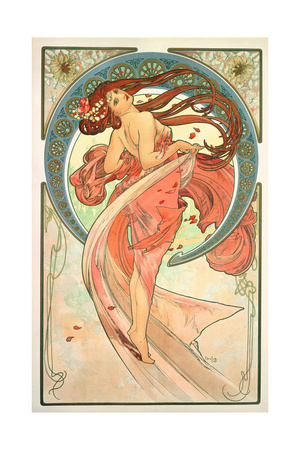 The Arts: Dance, 1898 Giclee Print by Alphonse Mucha