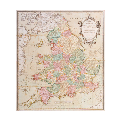 Bowle's Road Directory Through England and Wales, Published by Bowles and Carver, 1796 Giclee Print