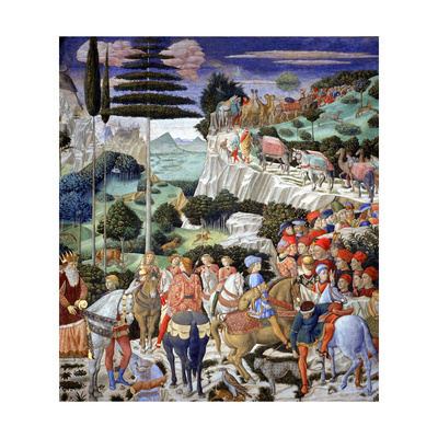 Procession of the Oldest King, 1459-60 Giclee Print by Benozzo di Lese di Sandro Gozzoli
