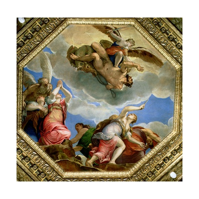 The Triumph of Virtue over Vice Giclee Print by Giambattista Zelotti