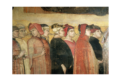 Allegory of Good Government, Detail of Eight Councillors, 1338-40 Giclee Print by Ambrogio Lorenzetti